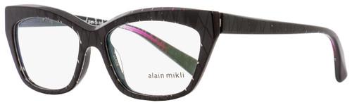 Alain Mikli Rectangular Eyeglasses A03016 F006 Black Pearlescent 53mm
