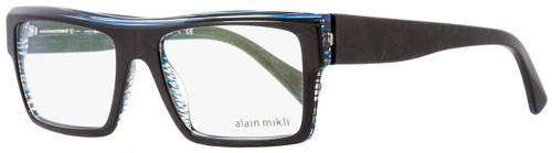 Alain Mikli Rectangular Eyeglasses A03032 B0D2 Black/Blue Pearlescent 53mm 3032