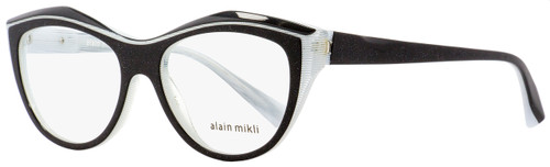 Alain Mikli Butterfly Eyeglasses A03041 C010 Black Glitter/White 52mm 3041