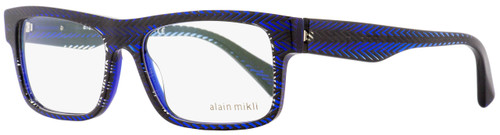 Alain Mikli Rectangular Eyeglasses A03046 B08G Blue/Black Chevron 54mm 3046