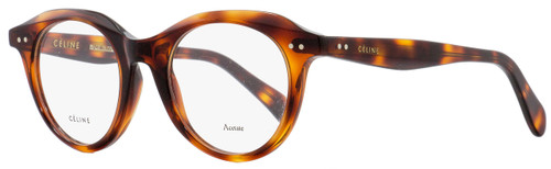 Celine Oval Eyeglasses CL41458 086 Dark Havana 45mm 41458