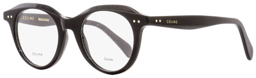 Celine Oval Eyeglasses CL41458 807 Black 45mm 41458