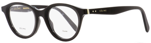 Celine Oval Eyeglasses CL41464 807 Black 46mm 41464