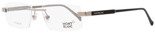 Montblanc Rimless Eyeglasses MB661 016 Palladium/Matte Black 53mm 661