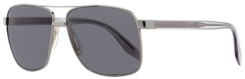 Versace Rectangular Sunglasses VE2174 1001-87 Gunmetal/Clear 59mm 2174