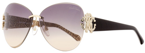 Roberto Cavalli Rimless Sunglasses RC901S Hyadum 28F Gold/Black/Leopard 63mm 901