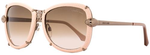 Roberto Cavalli Oval Sunglasses RC915S-A Mirfak 34F Bronze/Rose Leather 56mm 915