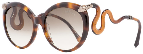 Roberto Cavalli Oval Sunglasses RC1037 Castellina 52F Havana/Brown/Bronze 58mm 1037