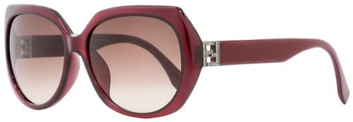 Fendi Rectangular Sunglasses FF0047FS MKGD8 Burgundy Opal 59mm 47