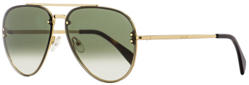 Celine Aviator Sunglasses CL41392S J5GXM Gold/Havana 58mm 41392