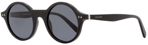 Celine Round Sunglasses CL41434S 807IR Black 48mm 41434