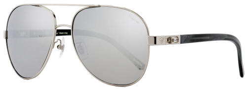 Chopard Aviator Sunglasses SCHB10G 579P Palladium/Gray Horn Polarized 61mm B10