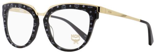 MCM Oval Eyeglasses MCM2623 006 Gold/Black/Visetos 52mm 2623