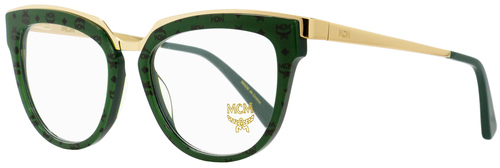 MCM Oval Eyeglasses MCM2623 309 Gold/Green/Visetos 52mm 2623