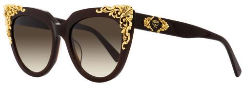 MCM Cateye Sunglasses MCM638S 210 Dark Brown/Gold 54mm 638