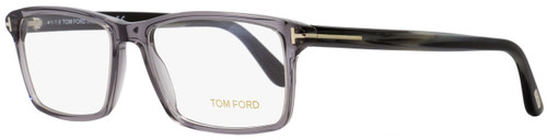 Tom Ford Rectangular Eyeglasses TF5408 020 Transparent Gray/Horn 56mm FT5408