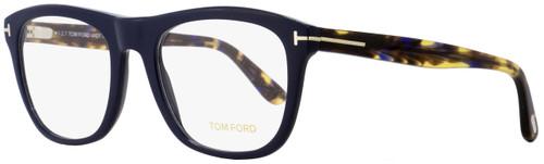 Tom Ford Rectangular Eyeglasses TF5480 090 Navy Blue/Havana 56mm FT5480