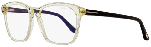Tom Ford Square Eyeglasses TF5481B 039 Transparent Opal/Havana 54mm FT5481B