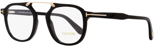 Tom Ford Square Eyeglasses TF5495 001 Black/Gold 48mm FT5495