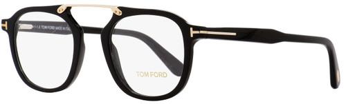 Tom Ford Square Eyeglasses TF5495 001 Black/Gold 48mm FT5495