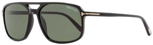 Tom Ford Rectangular Sunglasses TF332 Terry 01B Black/Gold 58mm FT0332