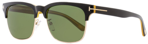 Tom Ford Rectangular Sunglasses TF386 Louis 05N Black/Gold/Opal 55mm FT0386