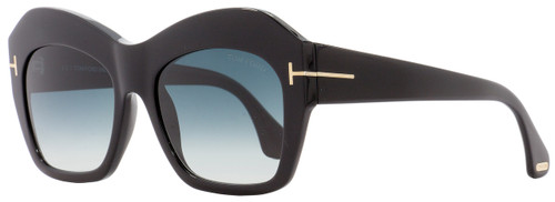 Tom Ford Square Sunglasses TF534 Emmanuelle 01W Black/Gold 54mm FT0534