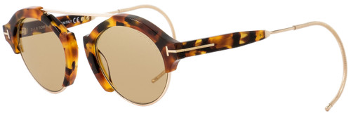 Tom Ford Oval Sunglasses TF631 Farrah-02 55E Tokyo Havana 49mm FT0631