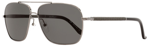 Salvatore Ferragamo Rectangular Sunglasses SF145SL 015 Gunmetal/Black 59mm 145