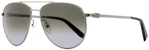 Salvatore Ferragamo Aviator Sunglasses SF157S 069 Ruthenium/Black 60mm 157