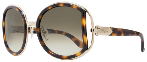 Salvatore Ferragamo Round Sunglasses SF719S 238 Havana/Gold 52mm 719