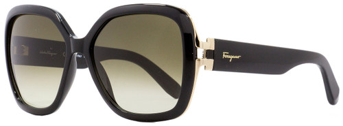 Salvatore Ferragamo Square Sunglasses SF781S 001 Black/Gold 56mm 781
