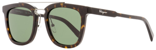 Salvatore Ferragamo Rectangular Sunglasses SF844S 214 Tortoise/Gunmetal 52mm 844