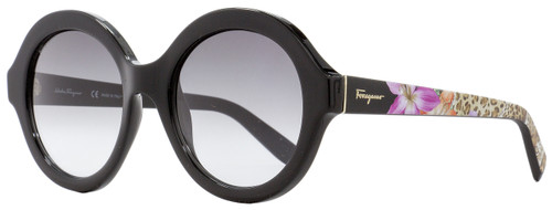 Salvatore Ferragamo Round Sunglasses SF857S 001 Black 54mm 857