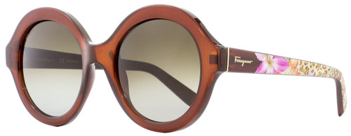 Salvatore Ferragamo Round Sunglasses SF857S 210 Brown 54mm 857