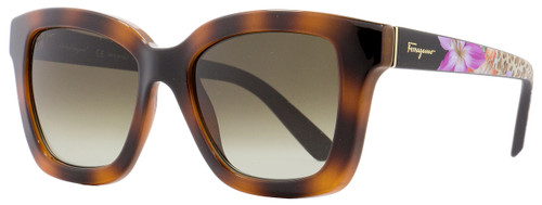 Salvatore Ferragamo Rectangular Sunglasses SF858S 214 Tortoise 53mm 858