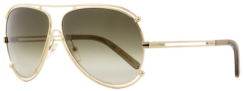 Chloe Aviator Sunglasses CE121S Isidora 743 Gold/Opal 61mm 121