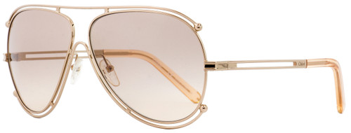 Chloe Aviator Sunglasses CE121S Isidora 785 Gold/Peach 61mm 121