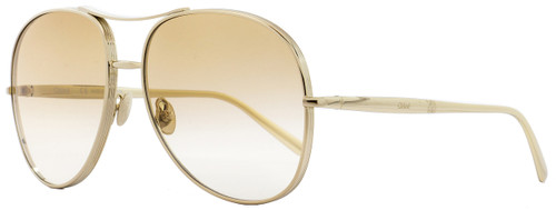 Chloe Square Sunglasses CE127S Nolla 722 Gold 61mm 127