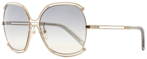 Chloe Square Sunglasses CE129S Isidora 734 Gold/Gray 59mm 129