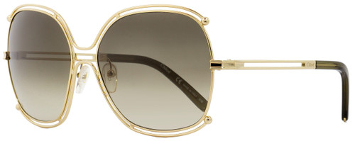 Chloe Square Sunglasses CE129S Isidora 750 Gold/Khaki 59mm 129