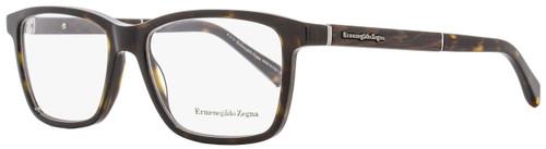Ermenegildo Zegna Rectangular Eyeglasses EZ5012 052 Havana/Venghe Wood 57mm 5012