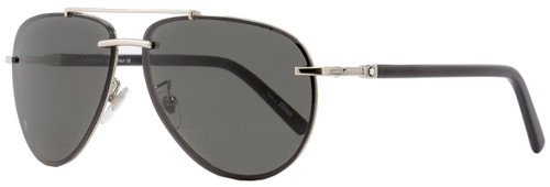 Montblanc Aviator Sunglasses MB596S 16A Palladium/Black 62mm 596