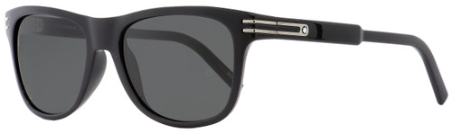 Montblanc Rectangular Sunglasses MB641S-H 01A Shiny Black/Palladium 56mm 641