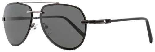 Montblanc Aviator Sunglasses MB643S 08A Gunmetal/Black 60mm 643