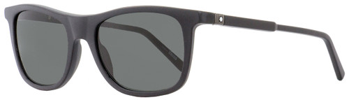 Montblanc Rectangular Sunglasses MB647S 02A Matte Black 54mm 647