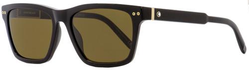 Montblanc Rectangular Sunglasses MB694S 01J Shiny Black 56mm 694