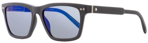 Montblanc Rectangular Sunglasses MB694S 02X Matte Black 56mm 694