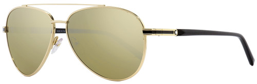 Montblanc Aviator Sunglasses MB702S 32L Gold/Black 59mm 702