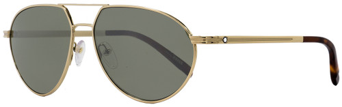 Montblanc Aviator Sunglasses MB714S 32Q Gold/Havana 59mm 714